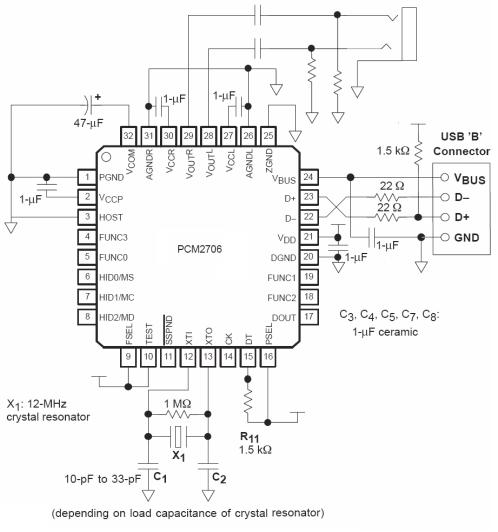 Pcm2707 Usb Dac Soundcard Electronic Schematics Usb Diy Electronics