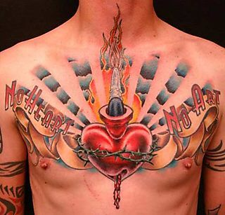 Traditional Sacred Heart Tattoo I Love The Light Flare With The