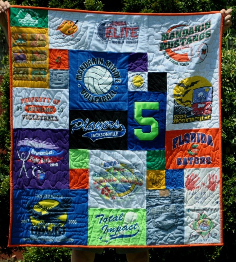Volleyball quilt made by Too Cool T-shirt Quilts in Clearwater, FL ... : too cool tshirt quilt - Adamdwight.com