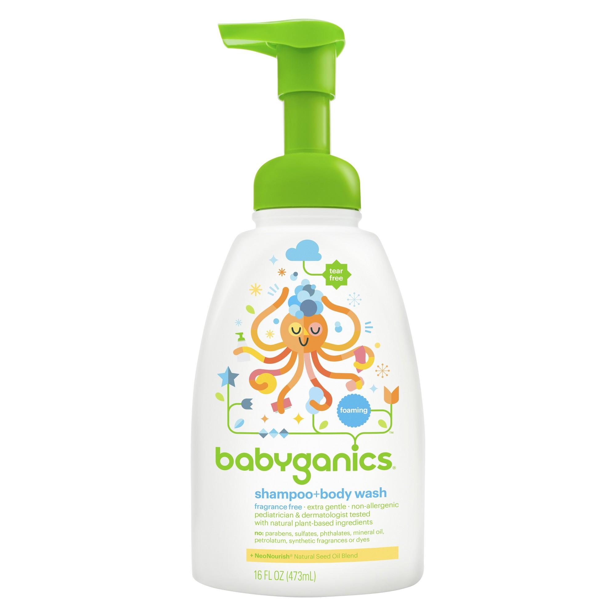 Babyganics baby shampoo body wash fragrance free 16oz