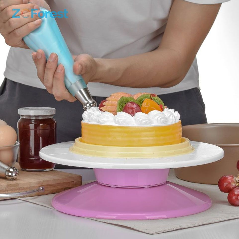 turntable cake stand with lid
