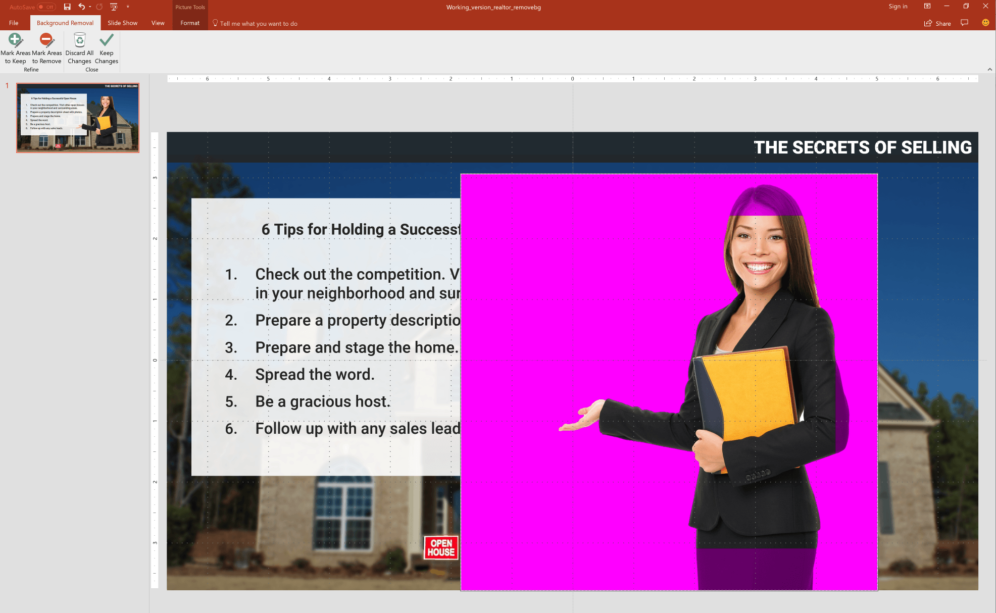 Remove Background Results Powerpoint tips, How to remove