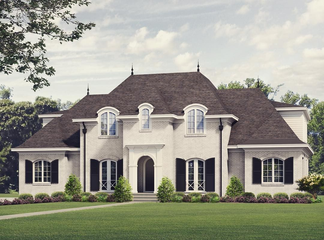 "Tony Frazier on Instagram: ""New conceptual design on Granville #frazierhomedesign #whitehouses #designlife #frenchcountry #3drendering #itb #countryclubhills #"""