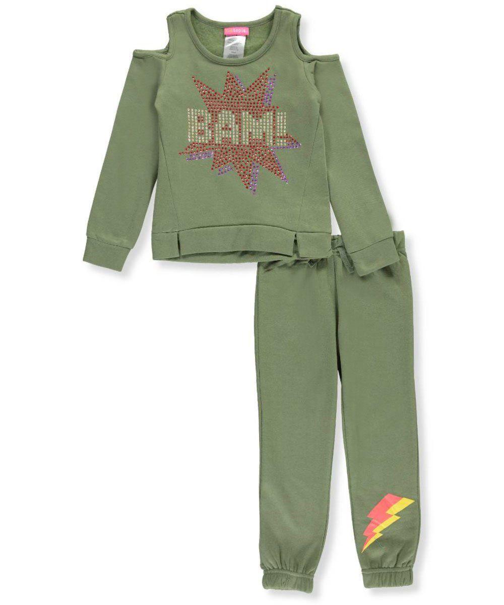 c6d892879ec90 Kidtopia Little Girls  2-Piece Outfit - olive