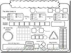 daily calendar math worksheet  math activities  calendar time  daily calendar math worksheet