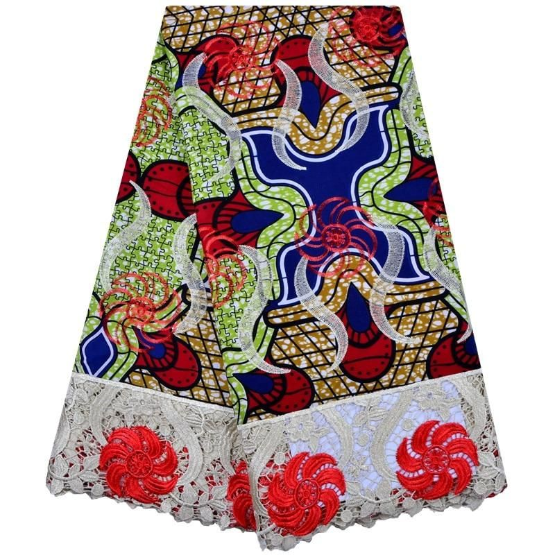 5 Yards Super Wax Hollandais Embroidery African French Lace Mix Guipure Lace Fabric Excellent Big High Quality Arts,crafts & Sewing Lace
