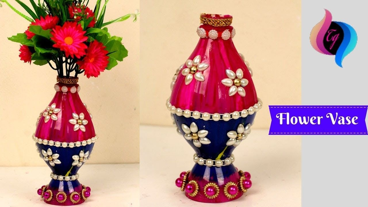Plastic Bottle Flower Vase Craft Ideas Flower Vase Made With