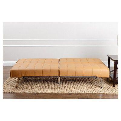 Fabulous Jackson Leather Foldable Futon Sofa Bed Camel Abbyson Ibusinesslaw Wood Chair Design Ideas Ibusinesslaworg