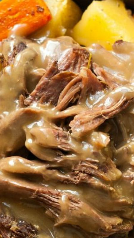 Easy Pot Roast Crock Pot Recipe ~ It is easy and delicious!