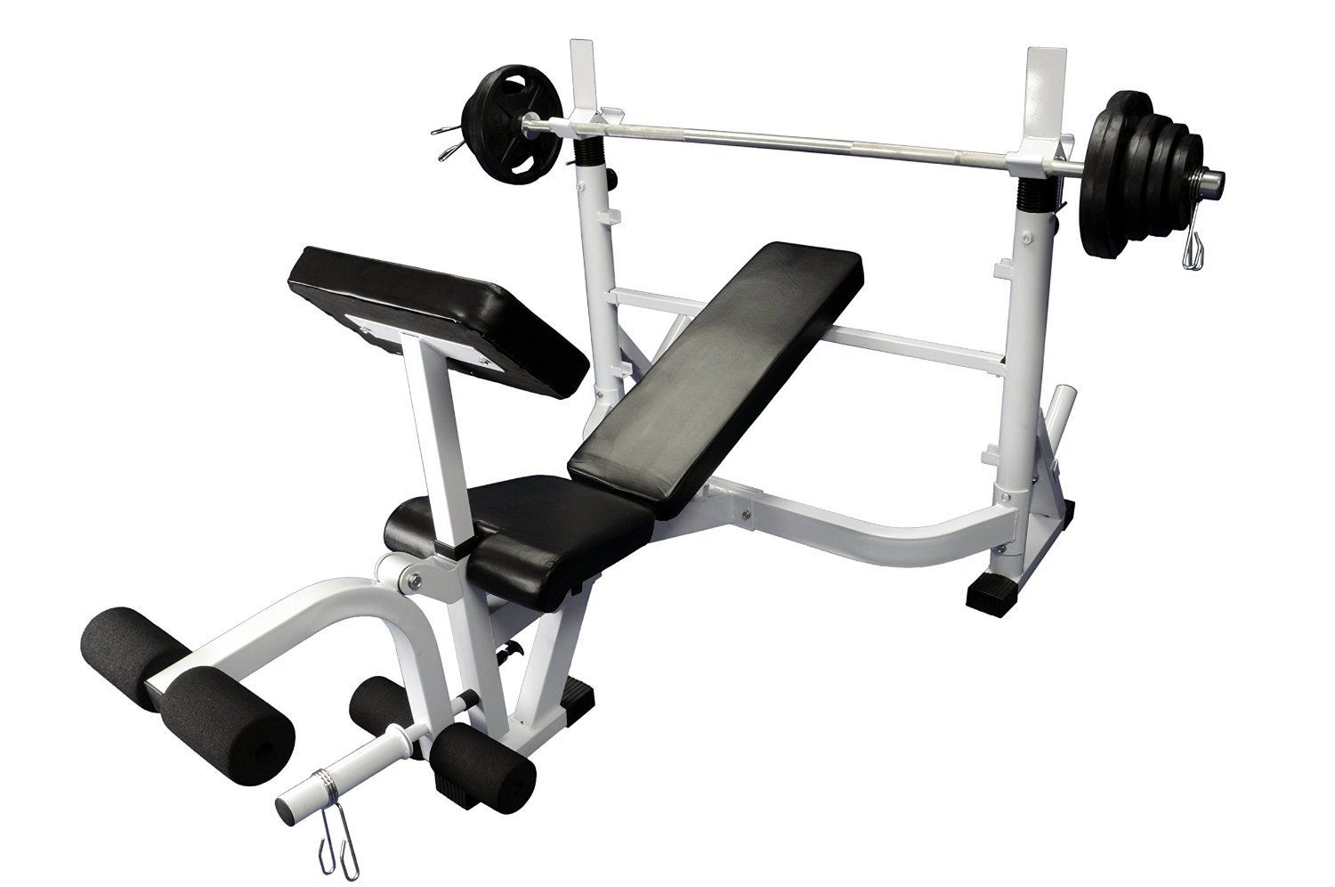 Olympic 300 lb weight set with power olympic bench heavy