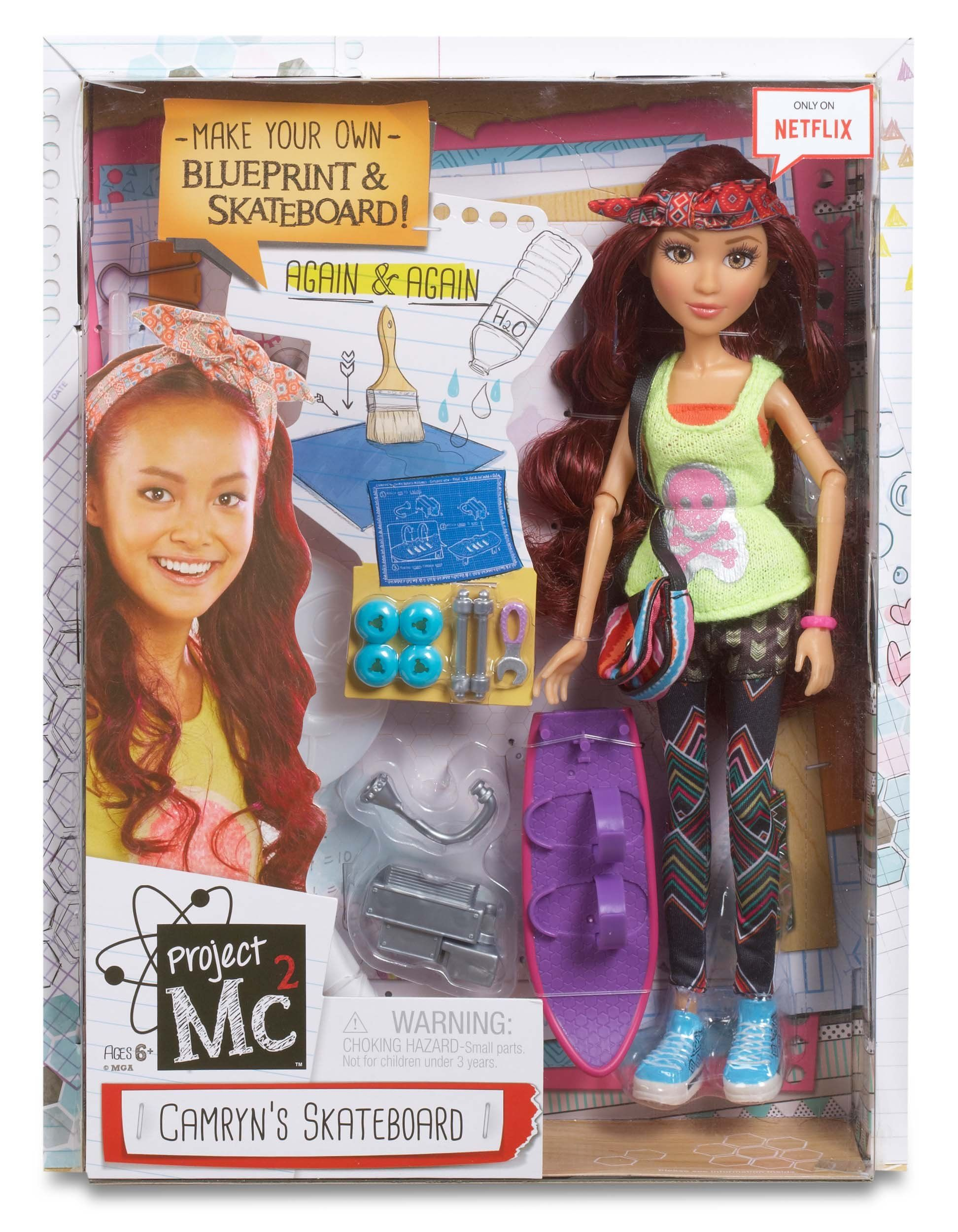 Amazon Project Mc2 Doll with Experiment Camryn s Skateboard