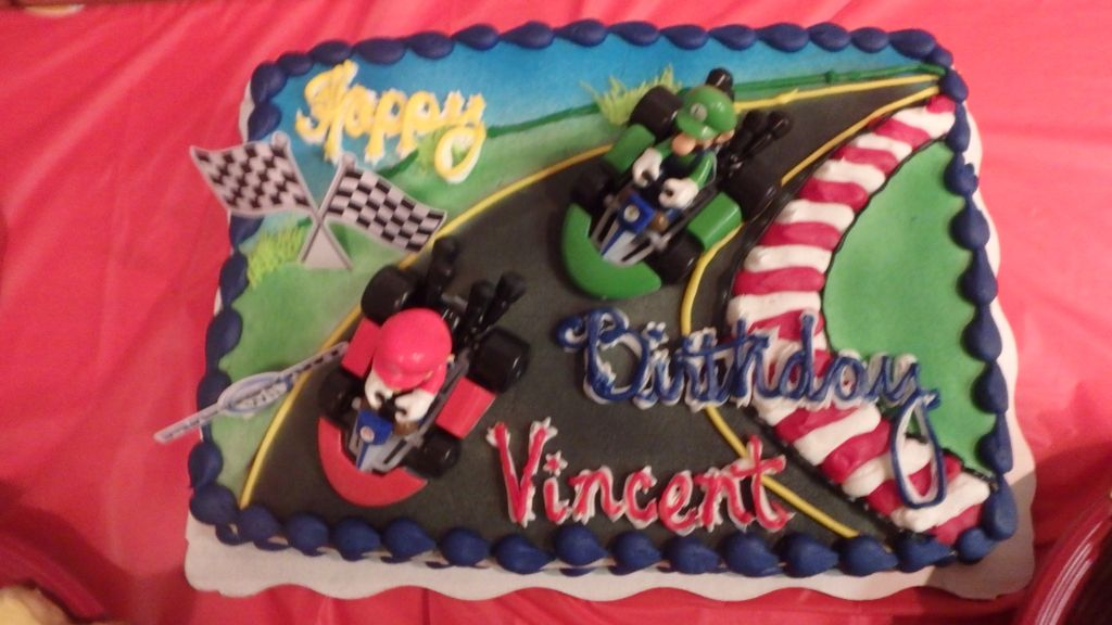 Mario Kart Birthday Cake From Walmart Bakery