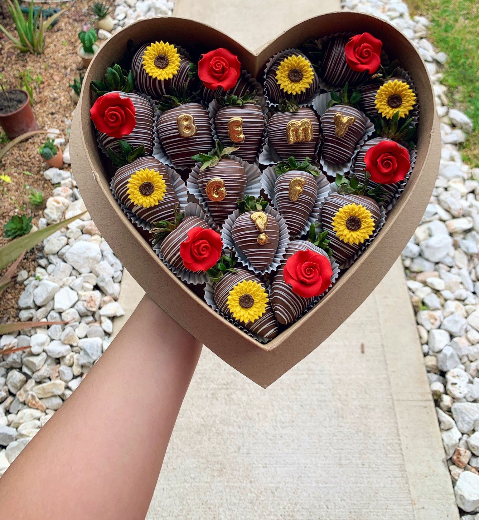 Cute Couples Idea Be My Girlfriend Proposal Chocolate Covered Strawberries Bouquet Valentine Chocolate Covered Strawberries Chocolate Covered Strawberries
