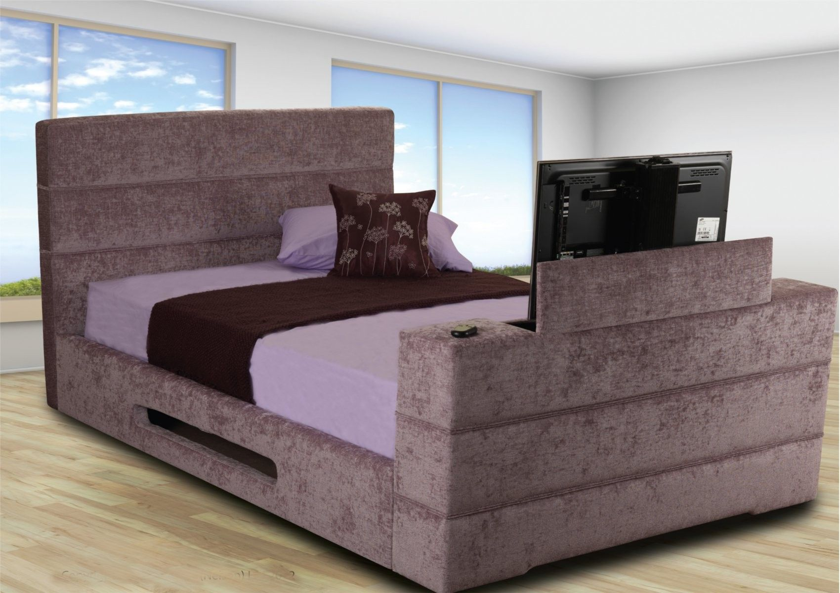 King Size Tv Bed Image Of Cool Beds With Built In Tv Bedroom Design Inspirations