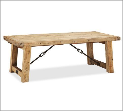 Benchwright Reclaimed Wood Extending Dining Table   Wax Pine Finish |  Pottery Barn