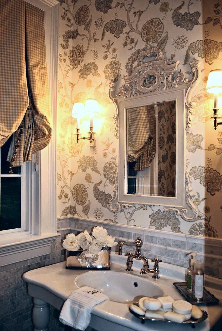 elegant guest bathroom      bathroom