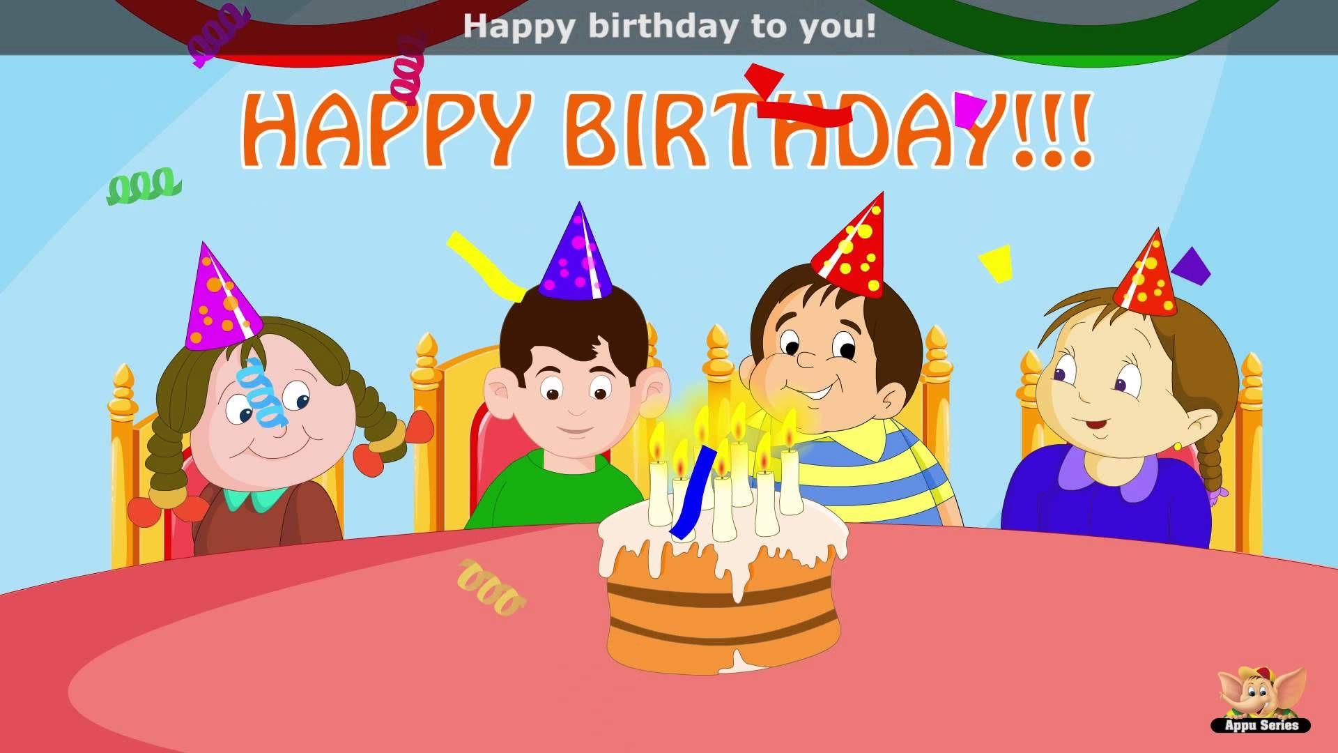 Happy Birthday To You Song Happy Birthday To You Kids Nursery Rhymes Happy Birthday