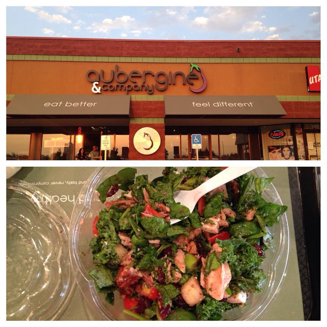 Date night tonight and met up with some friends to try out this new place.  I have to say it's my new favorite place, all clean eating, fresh, GOOD food!  I had a fresh salmon kale spinach, with cranberries, apples, fresh mozzarella, and cranberry dressing. It was delish #salad #kale #spinach #apple #salmon #fresh #raw #ingredients #aubergineandco #newfavrestaurant #veganoptions #dairyfree #glutenfree #datenight #cleaneating