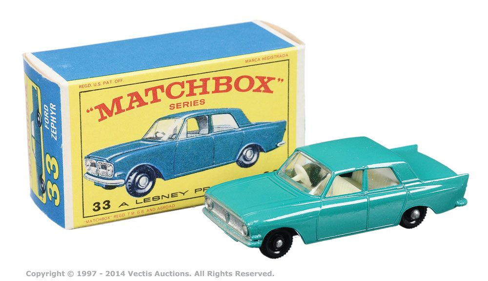 Matchbox Regular Wheels No 33b Ford Zephyr 6 With Images Matchbox Matchbox Cars Corgi Toys