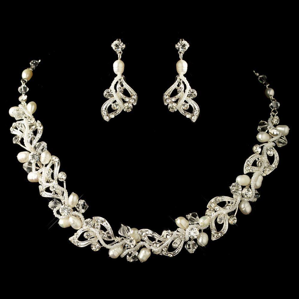 Affordable elegance bridal freshwater pearl and crystal