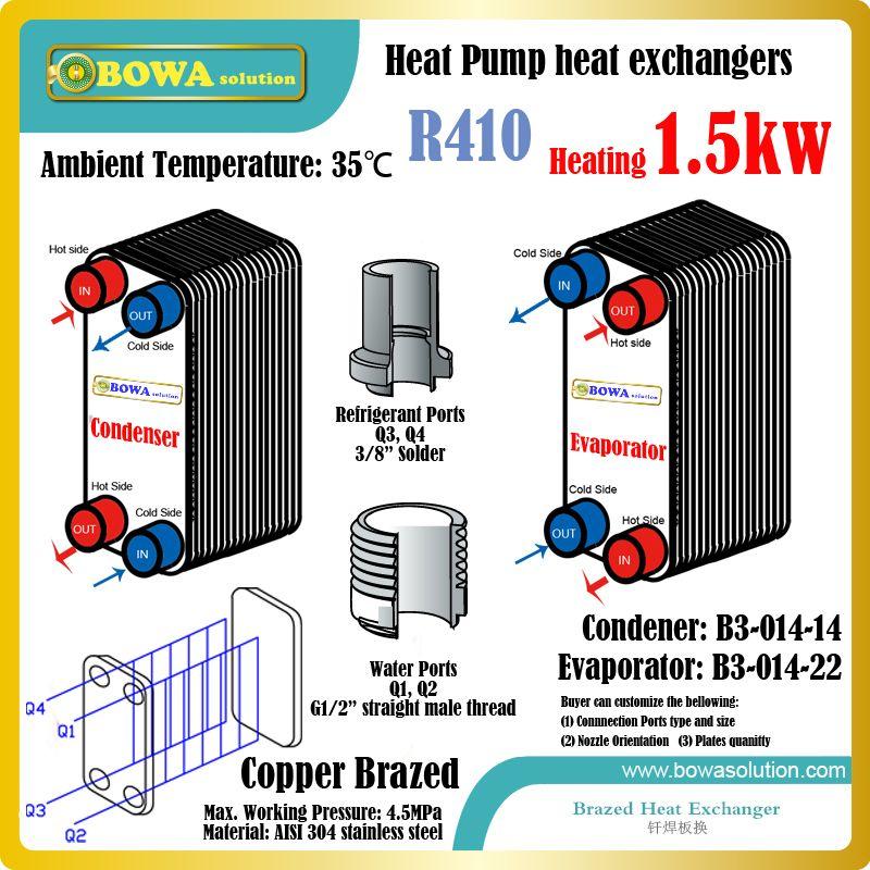 5100btu Heat Pump Water Heater R410a Heat Exchangers Including 45bar B3 014 14 As Condenser And B3 014 Heat Pump Water Heater Water Source Heat Pump Heat Pump