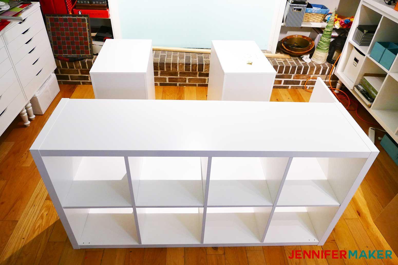 Diy craft table with storage my ikea hack diy storage