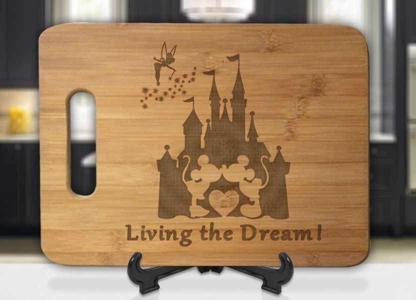 Custom Cutting Board castle Cutting Board mickey wedding Bridal Shower gift Castle Personalized Cutting Board Personalized Wedding Gift