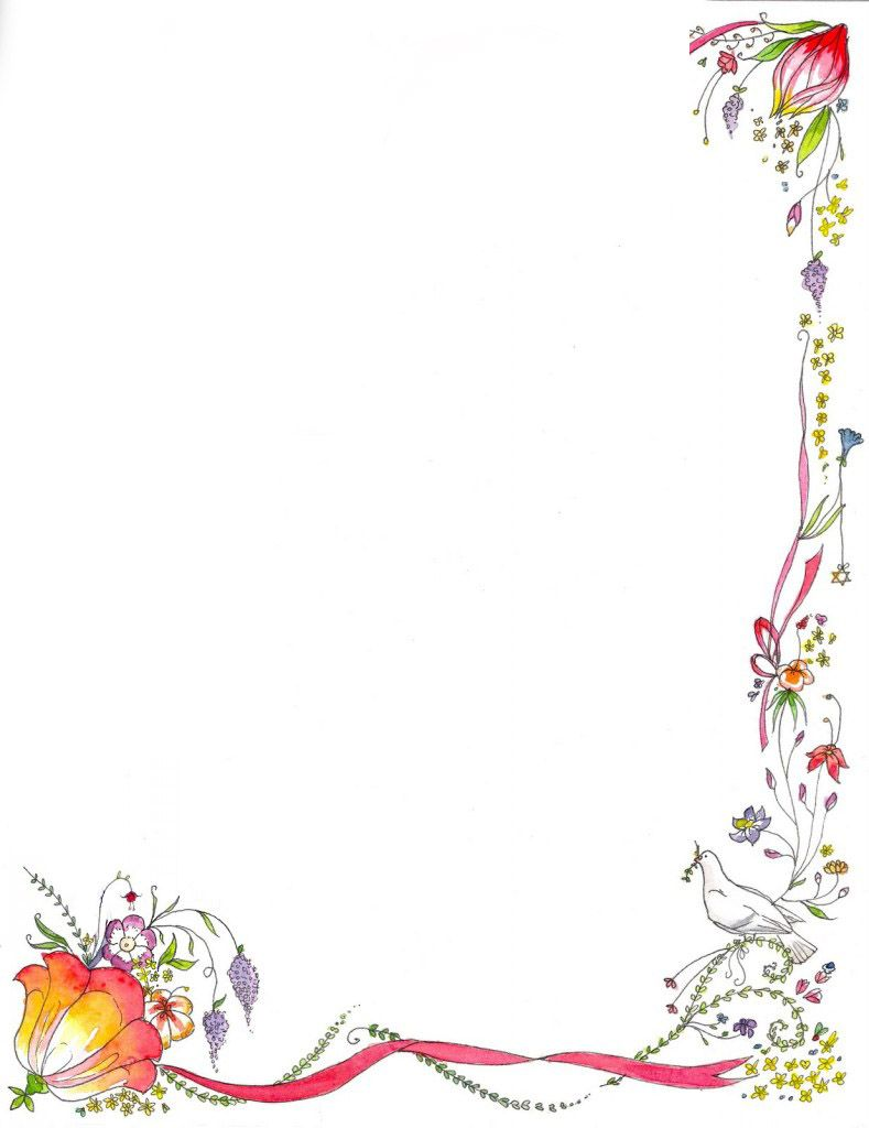Book Border Template   Latest Flower Green Border Design ...