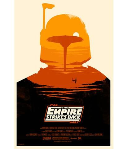 Empire Strikes Back Olly Moss poster