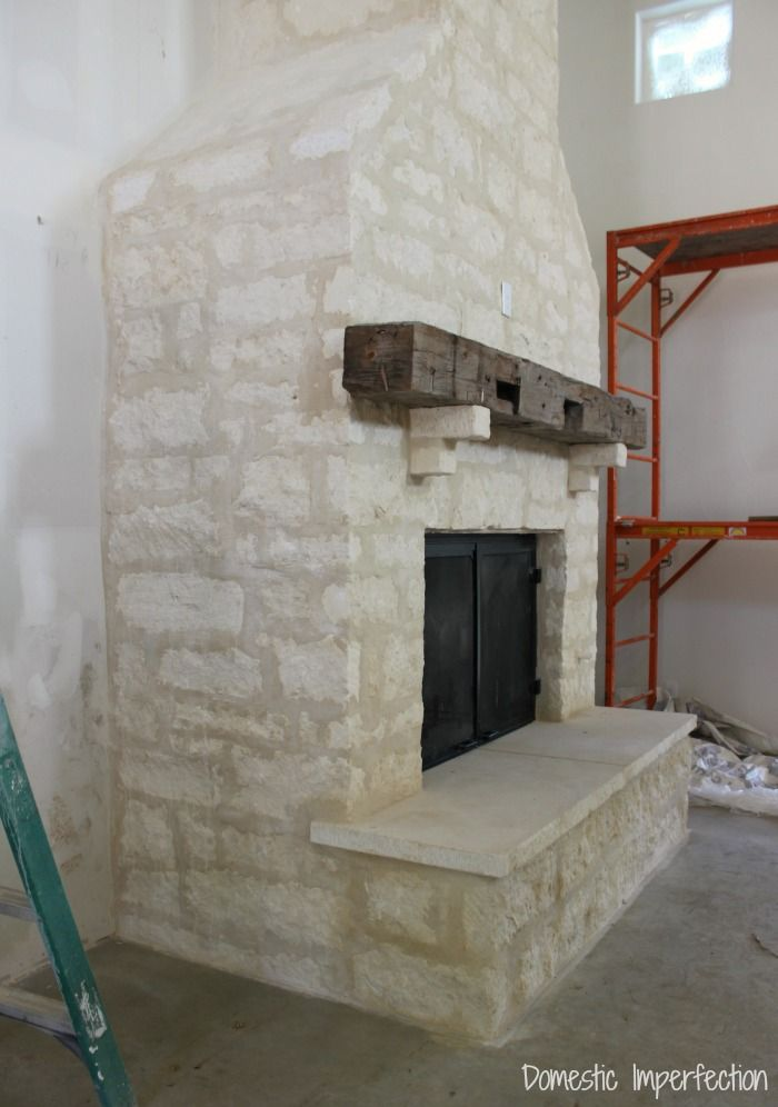 Interior Limestone Stone Fireplace Surround Home Fireplace