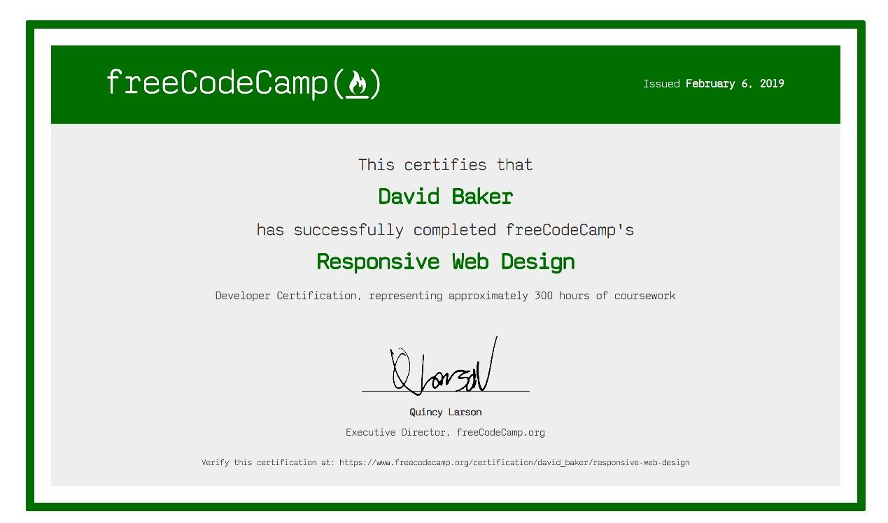 Freecodecamp Coding Camp Web Design Responsive Web