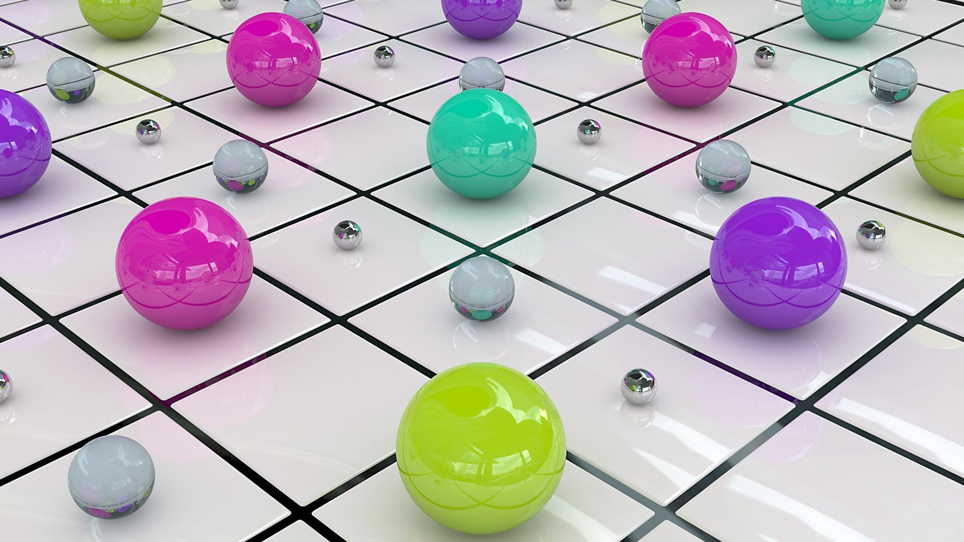 balls, colored, surface - http://www.wallpapers4u.org/balls-colored-surface/