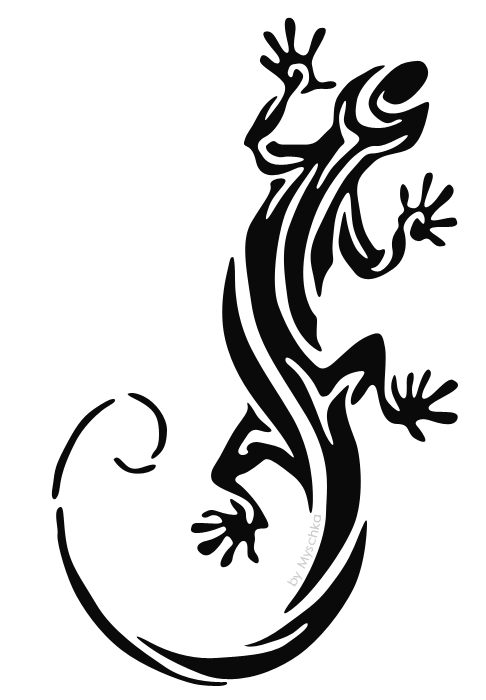 3dbefafb7 Tribal Gecko - Lizard Tattoo Sketch | tattoo | Lizard tattoo ...