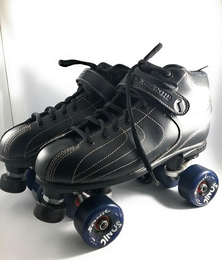 Mens Jackson Skates Size 10 Roller Skates With 4 Sonic 62mm Wheels Black Jackson Roller Skates Jackson Hiking Boots