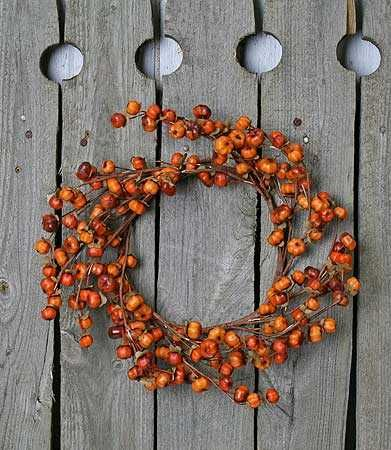 Pumpkin Candle Wreath - Thanksgiving, Christmas or Halloween decor
