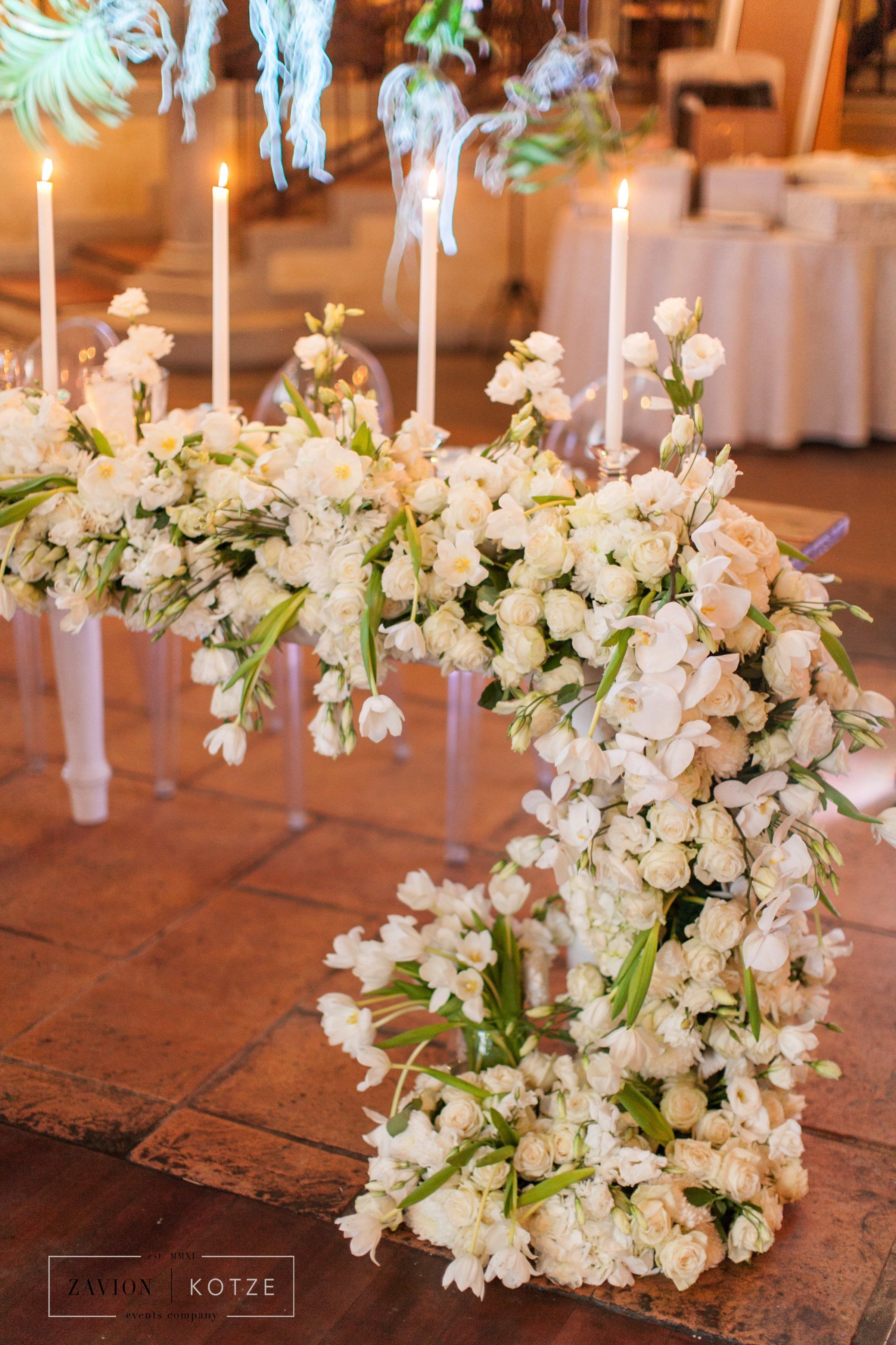 Greek Wedding Hanging Orchid Ceiling Orchid Roof Suspended