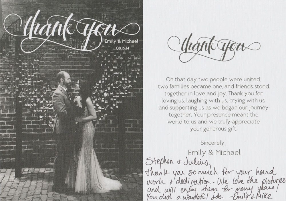 from complete strangers almost much love thank you notes - wedding thank you note