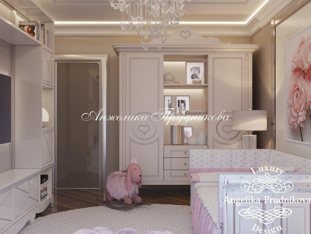Дизайн-проект интерьера детской спальни для девочки в ЖК ...