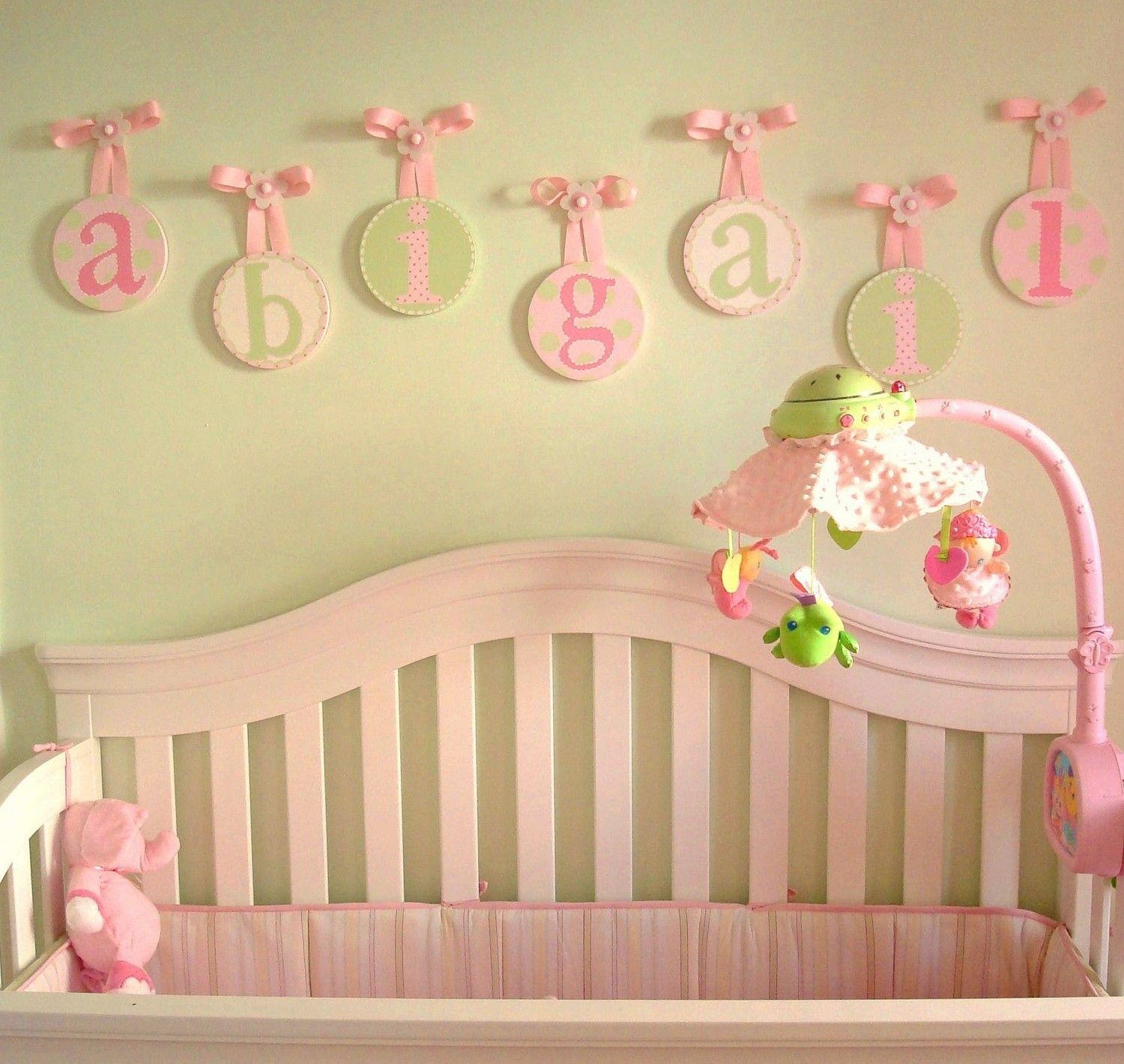 Pretty Baby Room Wall Letters Decorations Contemporary - The Wall ...