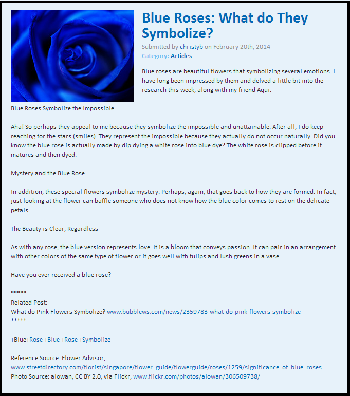 Blue Roses What Do They Symbolize Httpbubblewsnews
