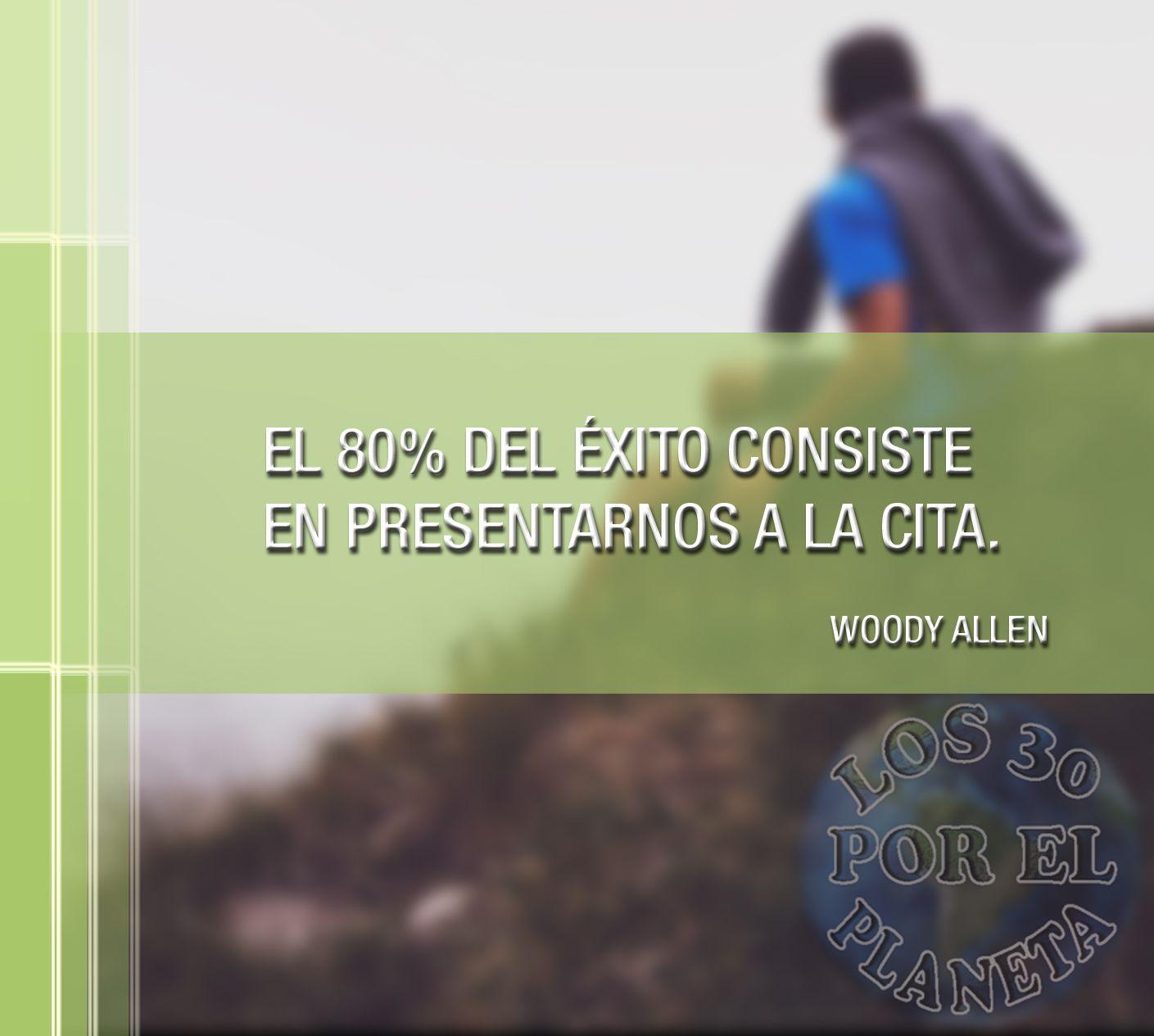 #Lunes, inicio de semana. Empieza esta mañana con mucha fuerza, energía y una gran sonrisa. Te dejamos con esta cita del cineasta Woody Allen. ¡Buenos días!