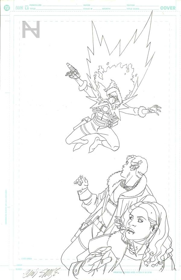 Tom Strong #35 cover prelim by Chris Sprouse Comic Art