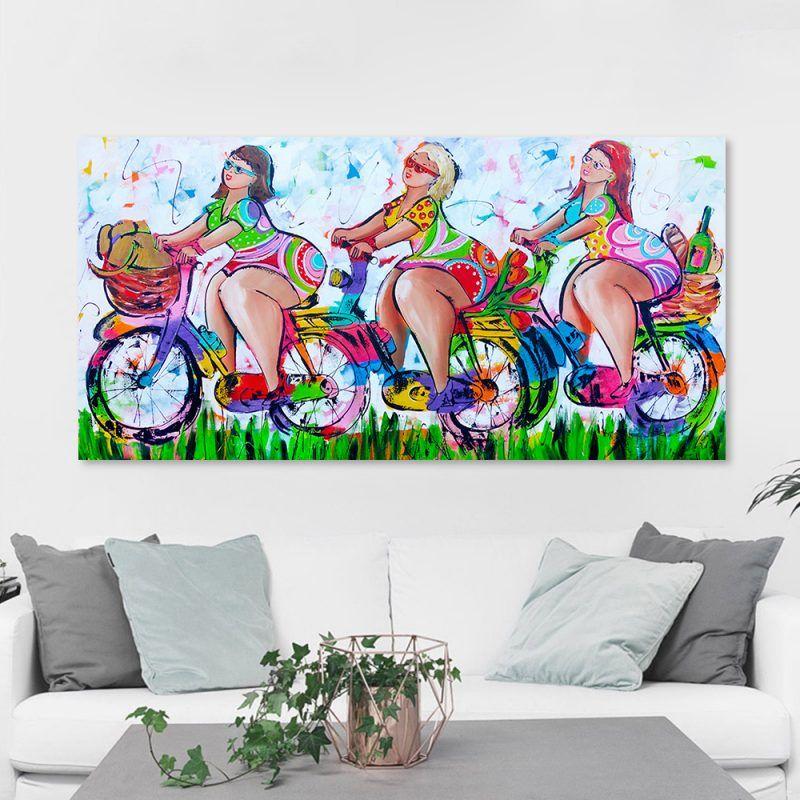 Hdartisan Vrolijk Schilderij Wall Art Picture Canvas Oil Painting