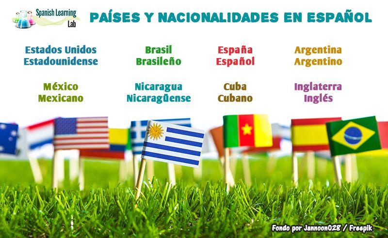 En esta lección, aprenderemos cómo hacer oraciones básicas con países y  nacionalidades en español para que cuando con…   Español, Como hacer  oracion, Nacionalidades