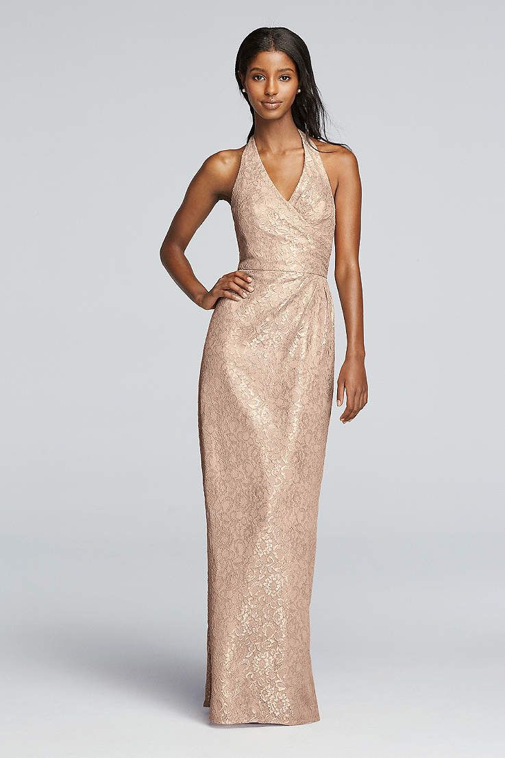 39b44ab9655 Gold Bridesmaid Dresses Davids Bridal - Aztec Stone and Reclamations