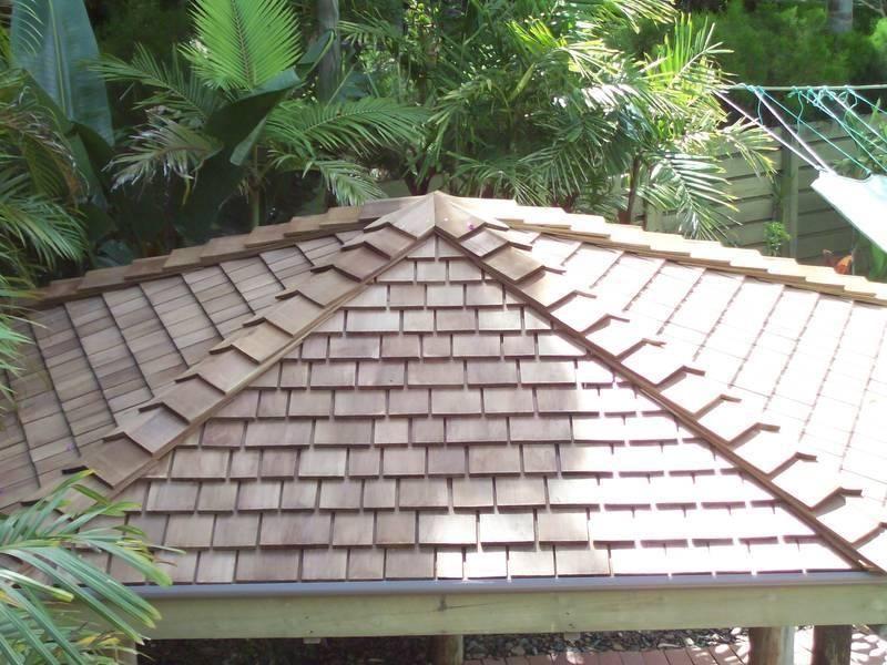 Bali Hut Re Roof In Western Red Cedar Premium Roofing
