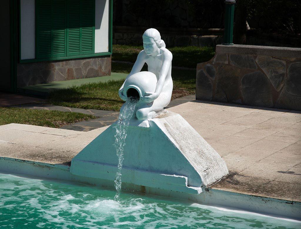 Swimming Pool Fountain Ideas diy pool fountain homemade swimming Swimming Pool Fountain Statues