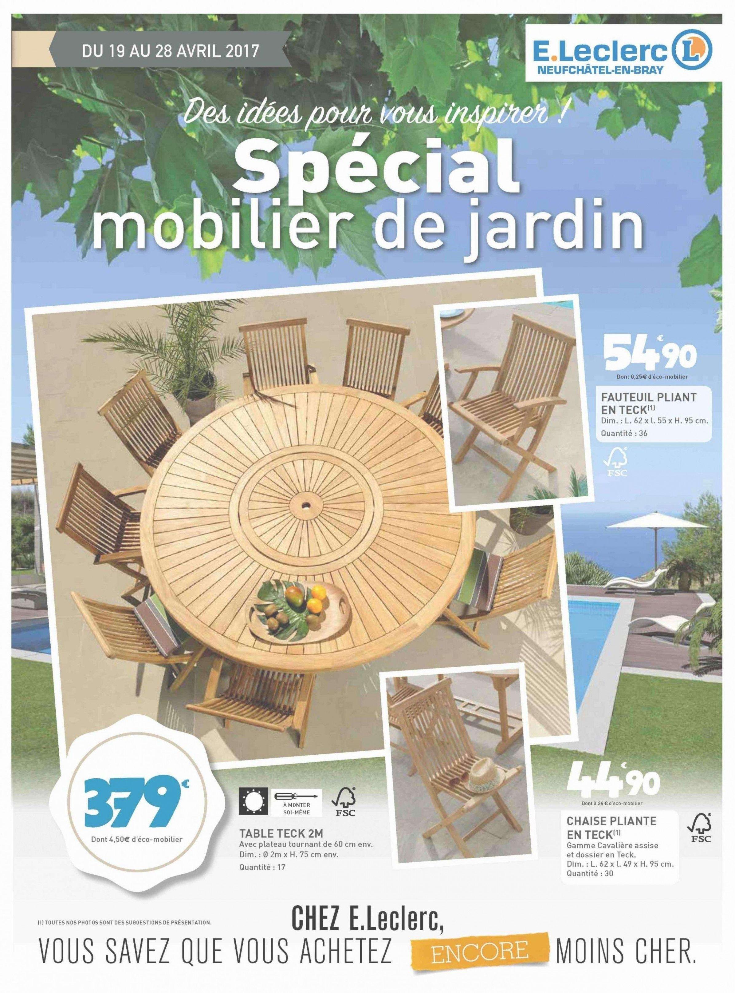 leclerc mobilier de jardin table
