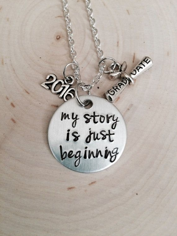is just beginning pin gift of my graduate class story graduation necklace