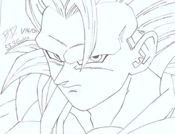how to draw dragon ball z super saiyan  How To Draw Dragon Ball Z